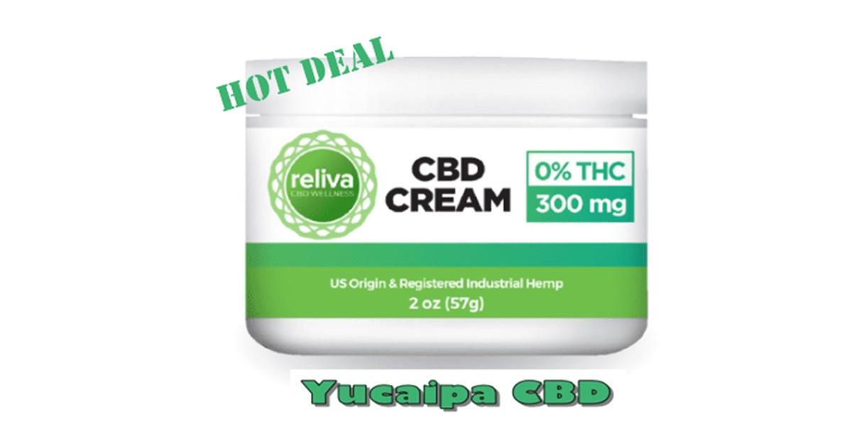Reliva CBD Wellness Relief Cream 300mg (60ml bottle)